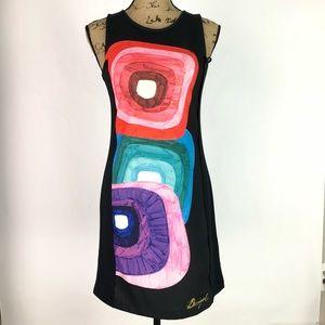 Desigual Sleeveless Sheath Dress Multicolor-Sz S